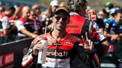 Marco Melandri: a Jerez con un casco speciale in onore del suo manager Vergani