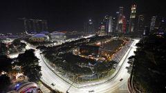 Marina Bay Street Circuit - l'impianto di illuminazione artificiale