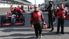 Mario Andretti alla 500 Miglia di Indianapolis prima di guidare la IndyCar biposto