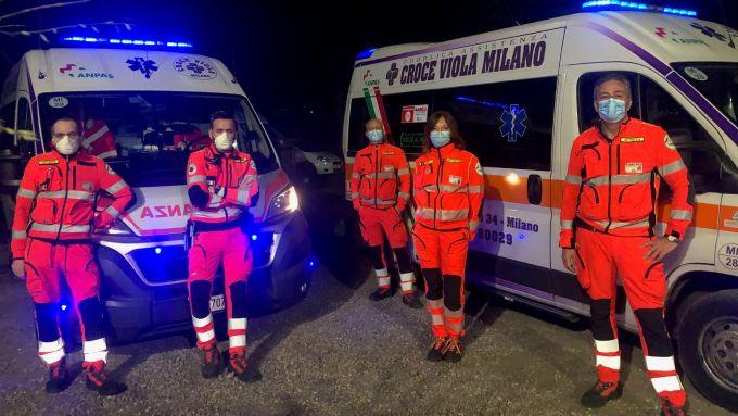 Mario Isola impegnato con la Croce Viola Milano