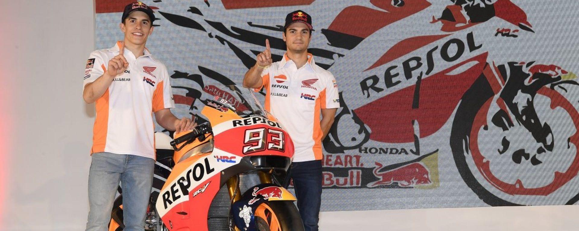 Marquez e Dani con la RC213V 2017