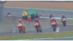Marquez e le Ducati ufficiali in pista nelle FP3