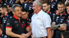 Masashi Yamamoto (Honda) con il dottor Helmut Marko (Red Bull)
