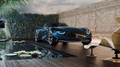 Maserati GranTurismo Targa: le luci diurne a LED di forma semicircolare