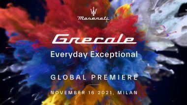 Maserati Grecale, la locandina della world premiere
