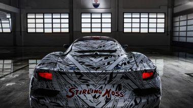 Maserati MC20: il primo piano sul posteriore del prototipo
