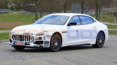 Maserati Quattroporte facelift 2021: le foto spia durante i test in Germania