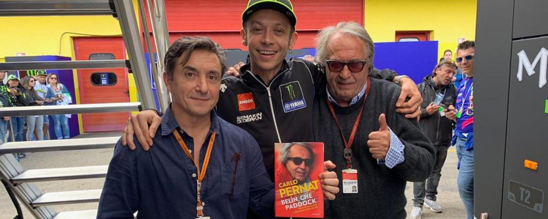 Massimo Calandri, Valentino Rossi e Claudio Pernat al Mugello (2019)
