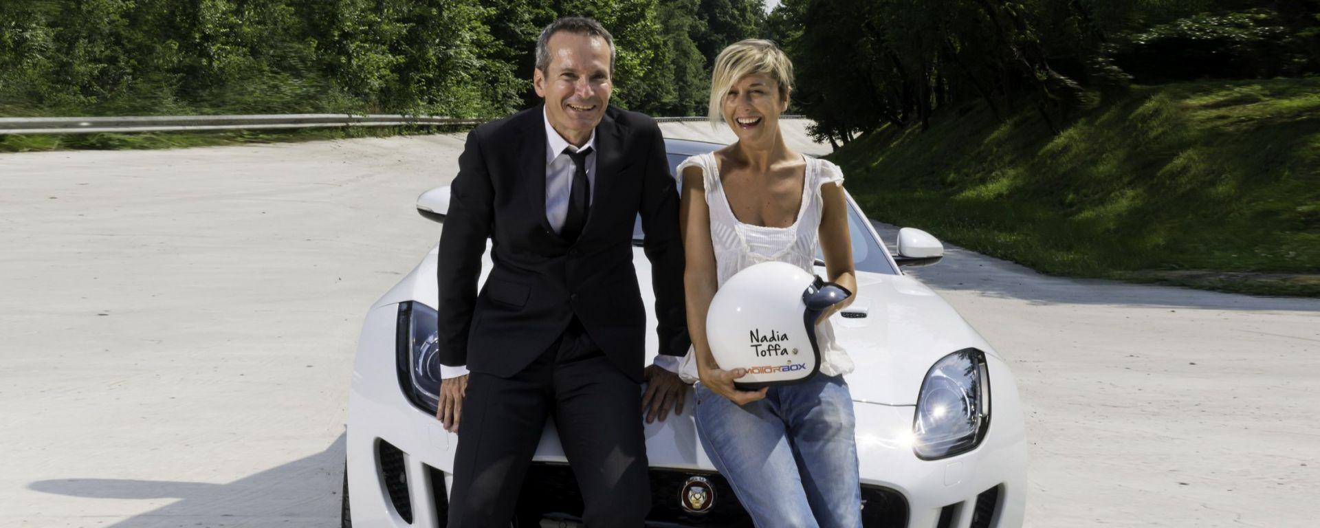 Quando Nadia Toffa girò a Monza su una Jaguar F-Type AWD