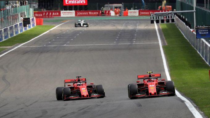 Mattia Binotto, Charles Leclerc e Sebastian Vettel - Scuderia Ferrari