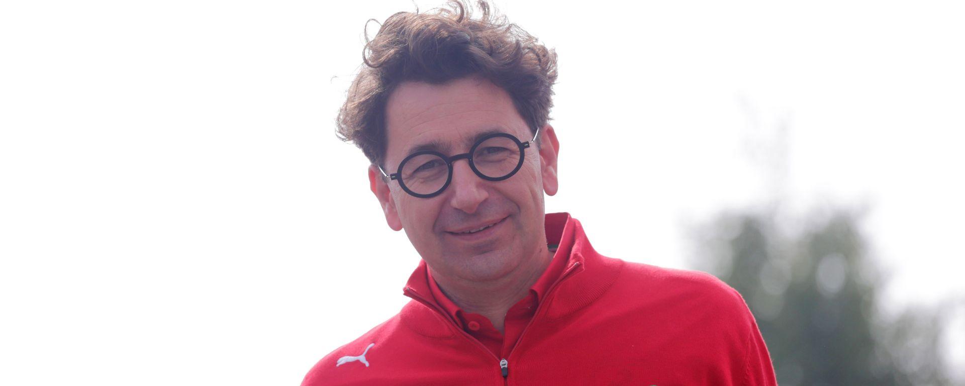 Mattia Binotto (Ferrari) sorridente a Spa