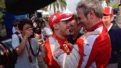 Maurizio Arrivabene e Sebastian Vettel - GP Malesia
