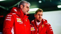 Maurizio Arrivabene e Sebastian Vettel