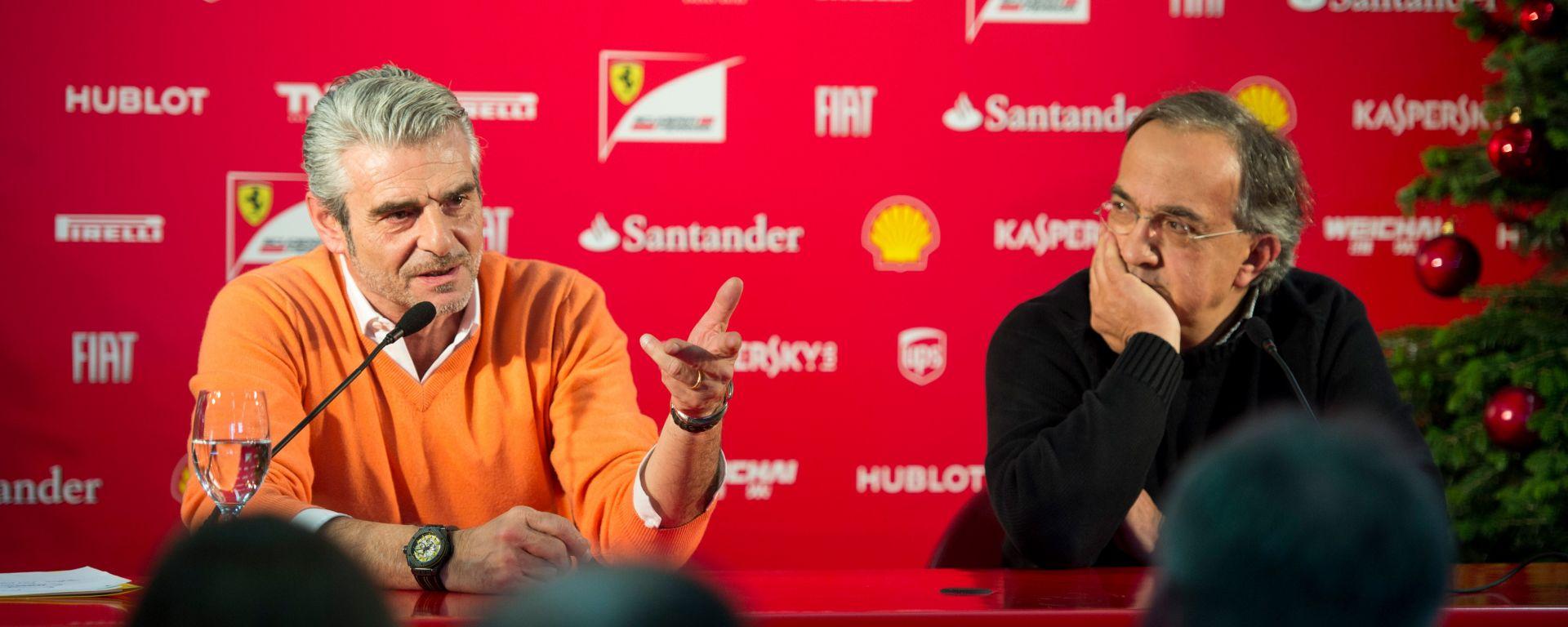 Maurizio Arrivabene e Sergio Marchionne