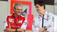 Maurizio Arrivabene e Toto Wolff - Formula Uno 2017