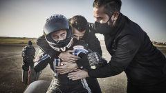 Max Biaggi e la gioia del record di velocità con la moto elettrica