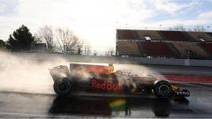 Max Verstappen e la sua Red Bull - F1 2017 test pre-stagionali Barcellona