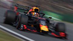 Max Verstappen in pista nelle qualifiche