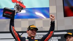 Max Verstappen (Red Bull) festeggia la vittoria in Germania