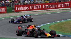 Max Verstappen (Red Bull) in pista ad Hockenheim