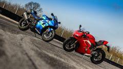 Maxi supersportive a confronto: Ducati Panigale V4s vs Suzuki GSX-R1000R