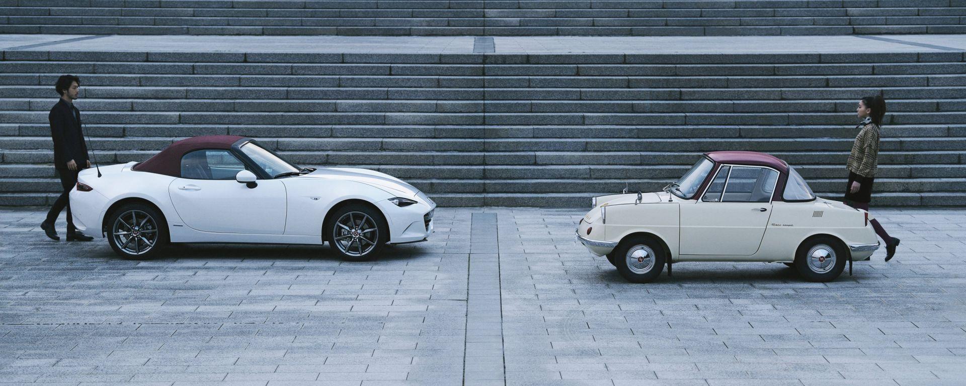 Mazda MX-5 100th Anniversary Edition: le due generazioni di Mazda
