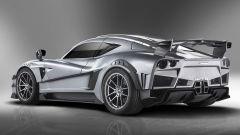 Mazzanti Evantra Millecavalli: l'alettone posteriore converte l'aria calda in carico aerodinamico