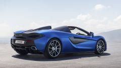 McLaren 570S Spider: vista 3/4 posteriore