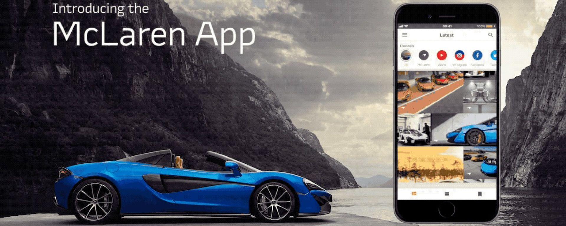 McLaren Automotive App - disponibile per Apple e per Android