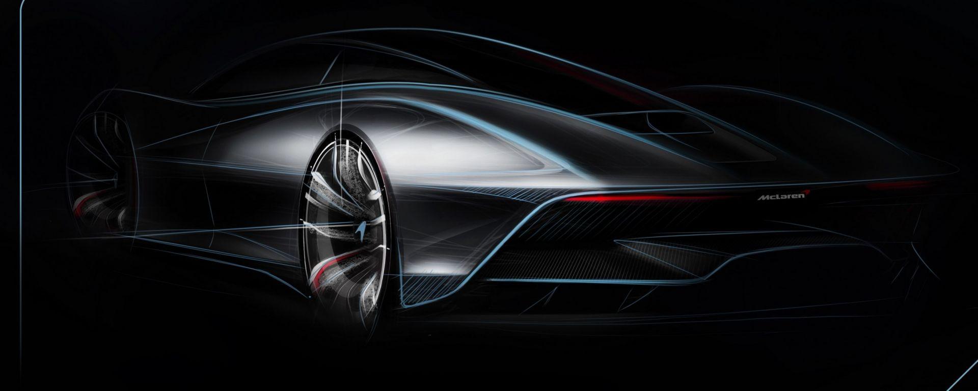 McLaren BP23: il bozzetto della prossima hypercar di Woking