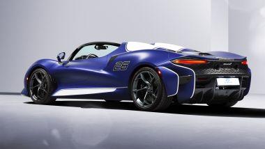 McLaren Elva: visuale di 3/4 posteriore
