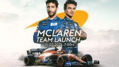 McLaren F1 Team 2021 Launch - Daniel Ricciardo, Lando Norris