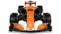 McLaren MCL32 2017: anche per la vettura di Alonso e Vandoorne, l'alettone anteriore è a forma di freccia