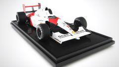 McLaren MP4 di Senna del 1991: visuale di 3/4 anteriore