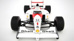 McLaren MP4 di Senna del 1991: visuale frontale