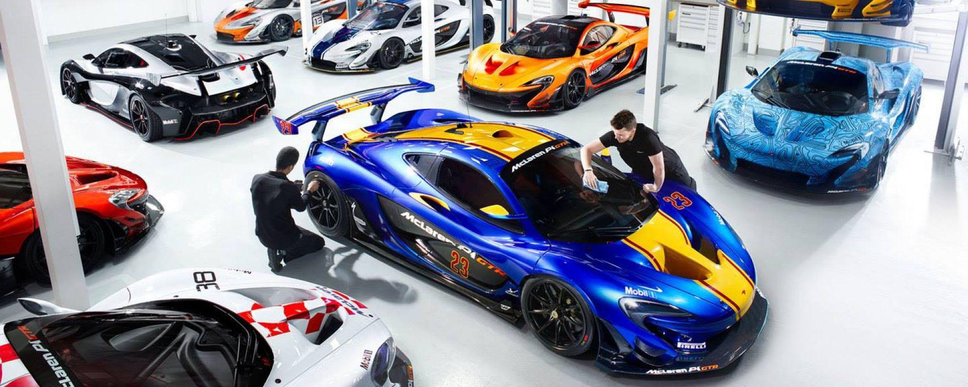 McLaren P1 GTR: un garage da sogno