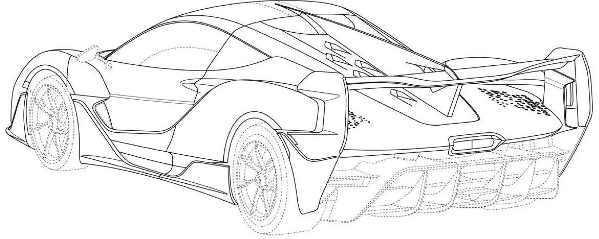 McLaren Sabre: i disegni rilasciati all'ufficio brevetti