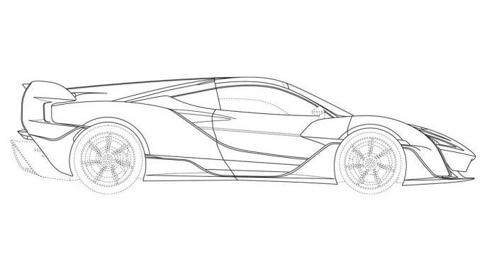 McLaren Sabre: il profilo evidenzia la linea disegnata dal vento