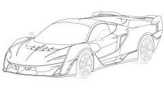 McLaren Sabre: stile super aggressivo per la hypercar inglese