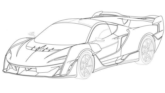 McLaren Sabre: uno dei disegni per il brevetto