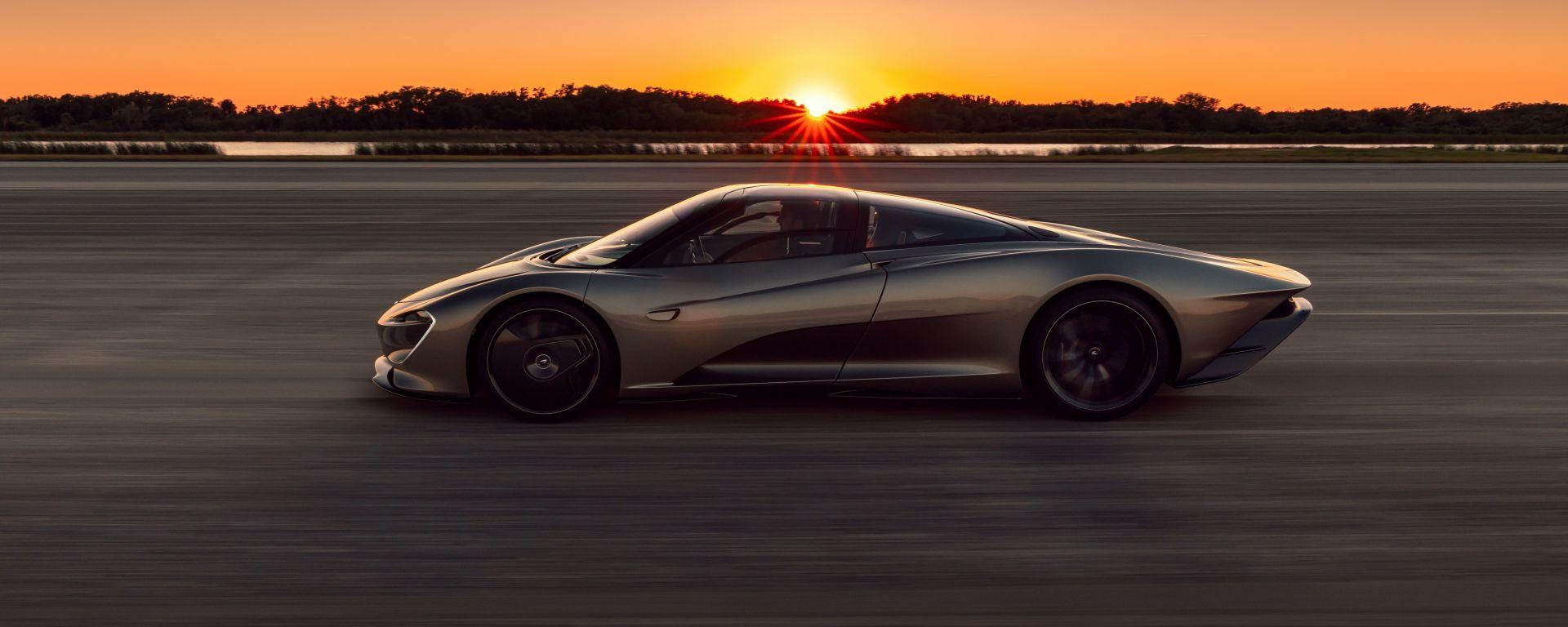 McLaren Speedtail, vista laterale