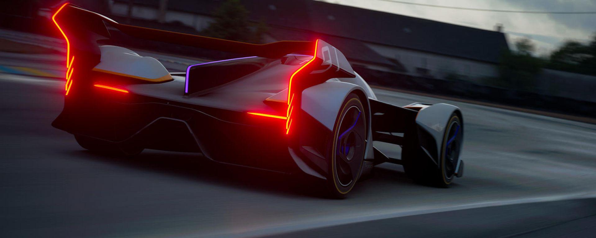 McLaren Ultimate Vision Gran Turismo: vista 3/4 posteriore