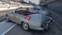 Mercedes 190 SL al rally regolarità Passione Caracciola - Autodromo Monza