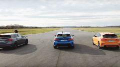 Mercedes A45 S, Bmw M135i, Focus ST: la gara su YouTube