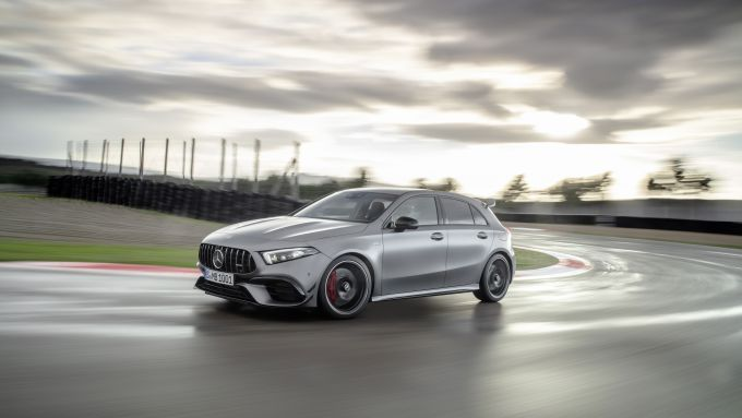 Mercedes-AMG A 45 S 4matic+ 2020 in pista a Misano