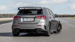Mercedes-AMG A 45 S 4matic+ 2020: vista 3/4 posteriore