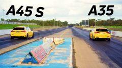 Mercedes-AMG A 45 S vs Mercedes-AMG A35: la drag race