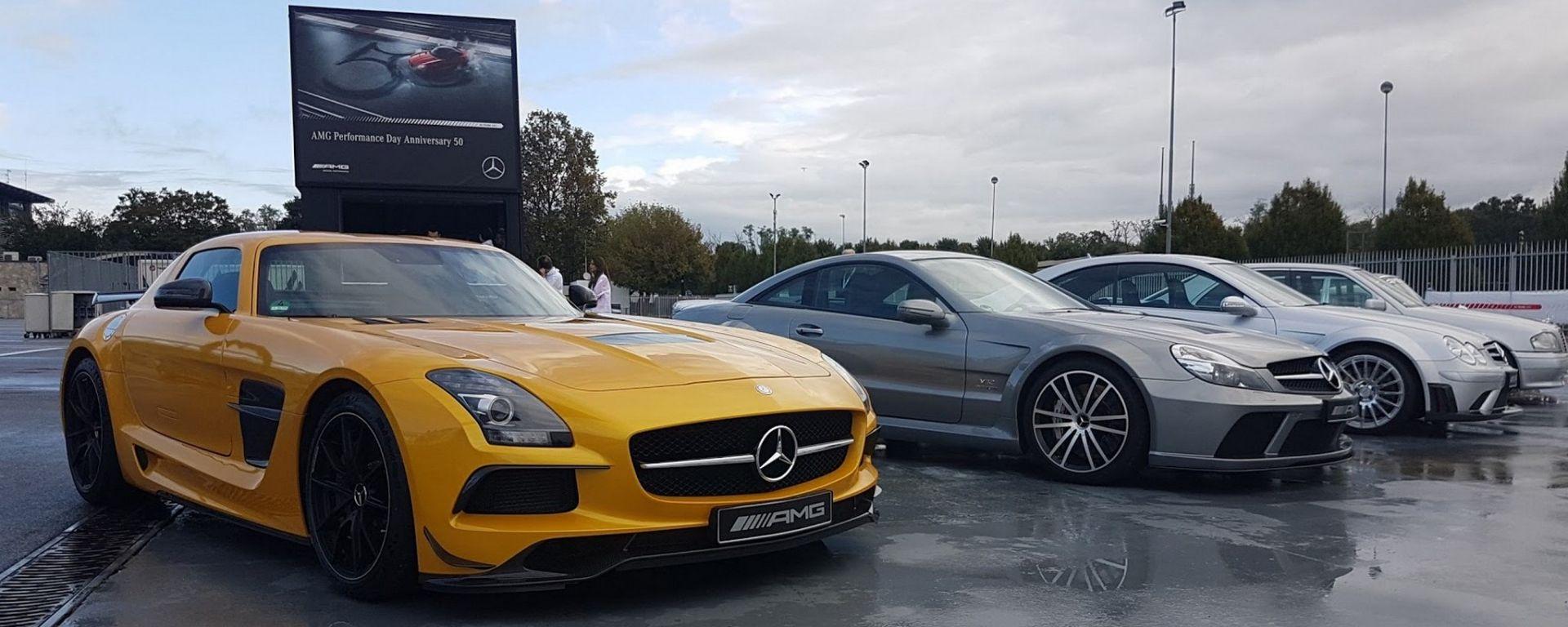 Mercedes AMG festeggia i 50 anni all'Autodromo di Monza