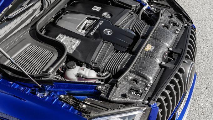 Mercedes AMG GLE 63 S: dettaglio del motore