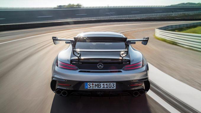 Mercedes-AMG GT Black Series, il retro